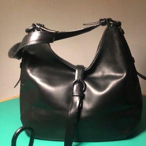 Francesco Biasia Black Leather Shoulder Handbag